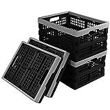 Ikando Cesto Cajas de Almacenamiento Plegables de Plástico, 4 Unidades