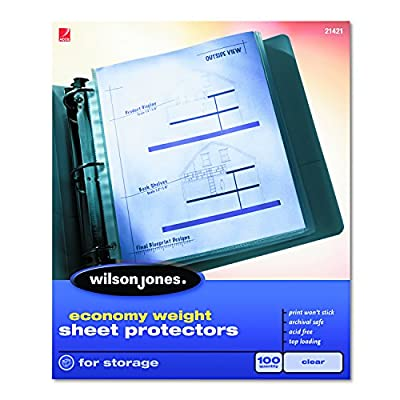 Economy weight, 2 mil thickness letter size page protector 8.5 x 11 inch sheet size Acid free, archival safe polypropylene material Nonstick coating prevents ink from smudging or rubbing off papers onto sheet protector Available in clear or semi-clea...
