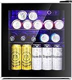 Antarctic Star Mini Fridge Cooler - 60 Can Beverage Refrigerator Glass Door for Beer Soda or...