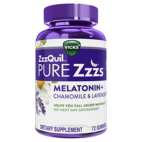 ZzzQuil Pure Zzzs Melatonin Sleep Aid Gummies, 72 ct, with Chamomile