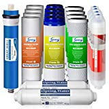 iSpring F19K75 2-Year Replacement Supply Set for 6-Stage Reverse Osmosis RO Water Filtration Systems with Alkaline Mineral Filter, White