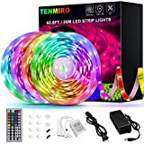 Tenmiro 65.6ft Led Strip Lights, Flexible Color Changing LED Light Strips Kit with 44 Keys Ir Remote...