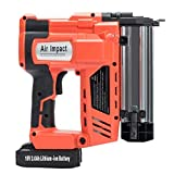 Orion Motor Tech Electric Cordless Brad Nail and Staple Gun| 18 GA 18V 2.0AH Rechargeable Battery with Charger| 2 in 1 Nailer and Stapler| Lightweight| Portable Carrying Case Included