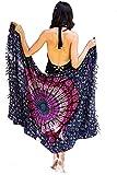 Paréo Bohème de Plage Femme - Boho Bikini Couvrir - Châle - Écharpe - Emballage - Couverture - Tapisserie - 100% Tissu Batik Rayon Sarong - 180x120 cm