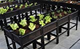 City Farmer USA Raised Garden Bed with Elevated 7' Depth Planter Box for Container Gardening
