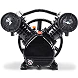 Goplus 3HP 2 Piston V Style Twin Cylinder Air Compressor Head Pump (Black)