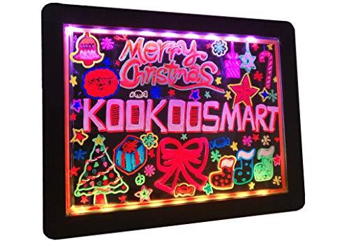 Tavolo da disegno a LED Glow Art di Kookoosmart lavagna con supporto 36 effetto luminoso con 6...