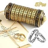 TUPARKA 5 Pieces Da Vinci Code Mini Cryptex Puzzle Boxes Valentine's...