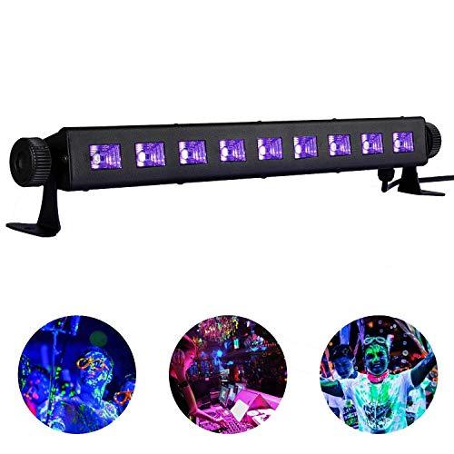 Barra LED UV Luce, Lacyie 27W 9LEDs Lampada di Luce Nera, UV Luce Effetto con Cavo di Alimentazione...
