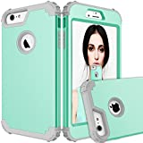 iPhone 6s Case,iPhone 6 Case,Auker Dual Layer Shockproof Drop Proof Military Grade Full Body Hybrid Protective Slim Fit Case with Hard PC+Soft Silicon for Girls&Boys for iPhone 6/6s 4.7 inch (Mint)
