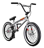 Mongoose Legion L100 Freestyle BMX Bike Line for Beginner-Level to Advanced Riders, Steel Frame, 20-Inch Wheels, Silver