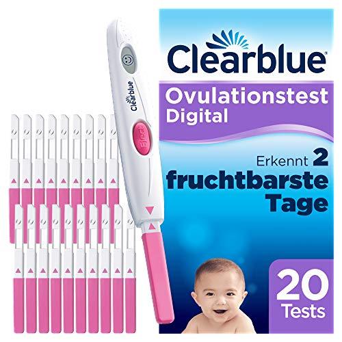 Clearblue Kinderwunsch Ovulationstest Digital - Fruchtbarkeitstest für Eisprung, 20 Tests