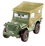 Cars Vehículo Sarge, coche de juguete (Mattel FJH95)