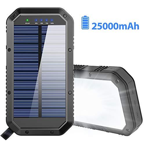 Solar Charger, 25000mAh Battery Solar Power Bank Portable Panel...