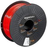 Amazon Basics PETG 3D Printer Filament, 1.75mm, Red, 1 kg Spool