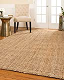 Natural Area Rugs Handmade Chunky Calvin Jute Rug 5' x 8', 100% Natural Jute, Heavier and Thicker than other Jute Rugs, Reversible for Twice the Wear, Beige