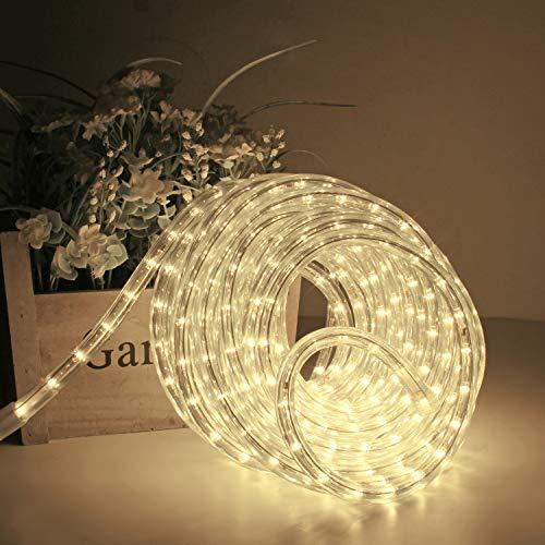 Kefflum LED Lichtschlauch,led schlauch, Lichterkette Licht Leiste 36LEDs/M Schlauch für Innen und Außen IP65 50M Warmweiß