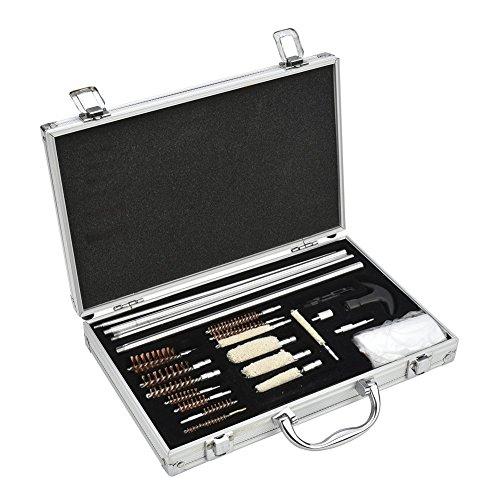 Triplespark Universal Kits de Nettoyage de Pistolet pour Fusil Airsoft Pistol 76w Chasse Shooting Brosses de Nettoyage Set avec boîte en Aluminium