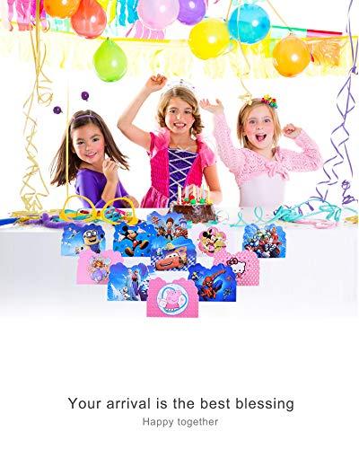 Image 4 - Qemsele Invitations, 30 Cartes + 30 Enveloppes pour fêtes d'anniversaire d'enfants Anglais Invitation à Une fête d'anniversaire pour Enfant garçons et Filles (4.3 * 5.5 Pouces (11 * 14cm), LOL)