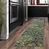 Silk Road Concepts Collection Contemporary Rugs, 20' x 59', Seafoam Leaf