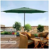 Big Times 13 Ft. Outdoor Patio Market Garden Table Umbrella,13 feet in Diameter, The Largest in The Market. US Delivery (Green)