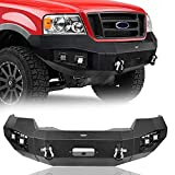 Hooke Road F150 Offroad Steel Front Bumper w/Winch Plate Compatible with Ford F-150 2004 2005 2006 2007 2008 Pickup Truck