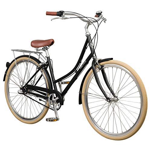 Pure City Classic Step-Through 3-Speed Bicycle, 43cm/Small, Elliot Black/White