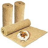Lot de 3 tapis pour rongeurs 100 % chanvre 100 x 40 cm Épaisseur...