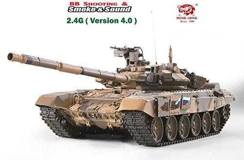 Heng Long 2.4Ghz 1/16 Scale Radio Remote Control Russian T-90 Main Battle Tank RC Air Soft RC Battle Tank Smoke & Sound