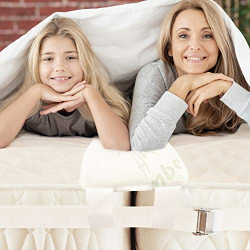 BALIBETOV Unisci materassi (Bed Bridge) Kit - Unisci materassi Singoli in Matrimoniale - Connettore a Due Letti Connettore per Materasso per Ospiti e riunioni di Famiglia (Naturale)