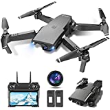 tech rc Drone con Cámara HD 1080P, Drone FPV Plegable Drone Profesional Posicionamiento de Flujo...