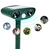 Wikoo Animal Pest Repeller, Solar Powered Ultrasonic Pest Repeller,Effective Outdoor Waterproof Pest Control,Repels Raccoons,Skunks,Foxes,Dogs,Cats,Deer,Squirrels etc