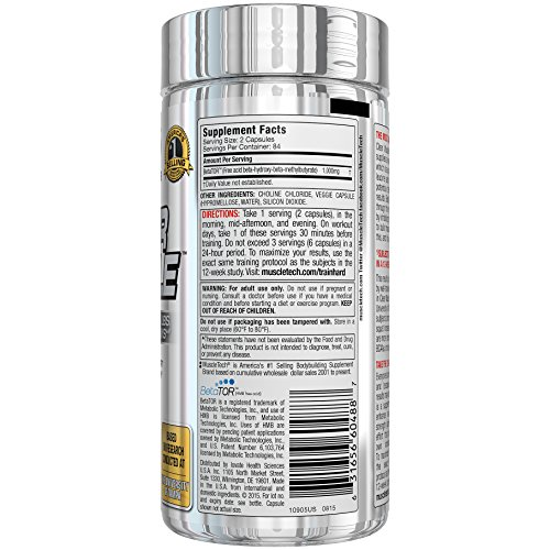 MuscleTech Clear Muscle Post Workout Recovery and Strength Builder, Amino Acid & Muscle Recovery Supplement, 168 Count 4