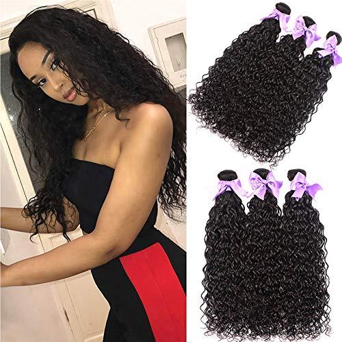 Aatifa Water Wave 4 Bundles (22 24 26 28) 9A Wet and Wavy 100% Unprocessed Virgin Human Hair Water Wave Bundles Natural Black Color