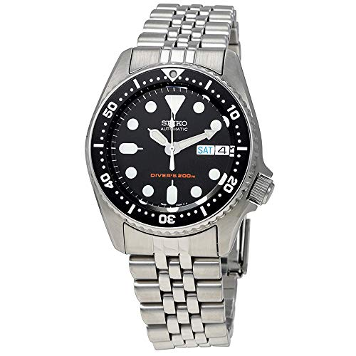 Seiko SKX013K2 Black Dial Automatic Divers Midsize Watch