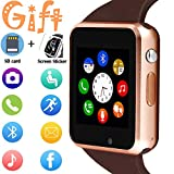 Smart Watch, SmartWatch for Android Phones with SD SIM Card Slot Touch Screen Watch Phone with Camera Pedometer Compatible with Bluetooth for iOS (Partial Functions) Sweatproof for Men Women Kids