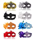 Ru S Masquerade Party Masks Womens Masks Venetian Ball Prom Mardi Gras Halloween Masks (8 Colors)