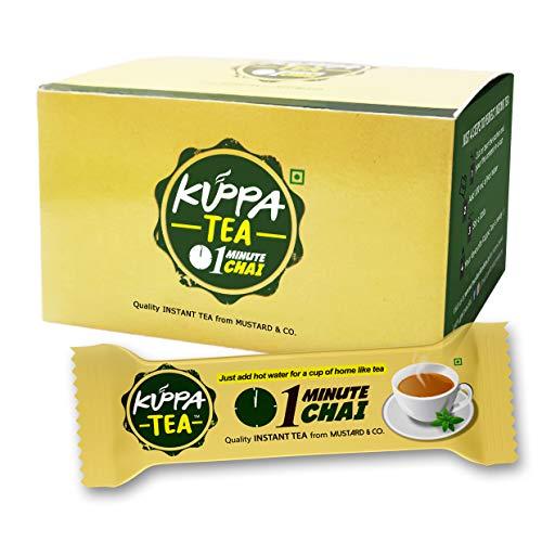 Kuppa Tea - Instant Tea Premix (10 sachets) Available in 5 Flavors Ginger, Masala, Elaichi, Lemongrass and Plain Sugarless