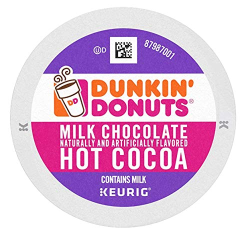 Dunkin' Milk Chocolate Hot Cocoa, 60 K Cups for Keurig Coffee Makers