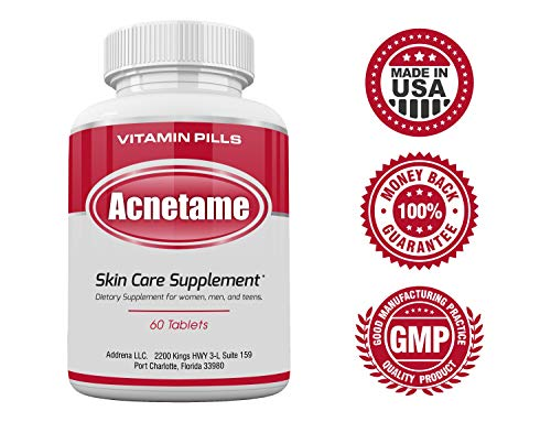 Acnetame- Vitamin Supplements for Acne Treatment, 60 Natural Pills 4
