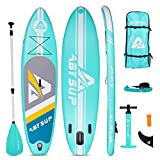 ABYSUP Paddle Boards, Paddleboard with All Accessories & Carry Bag, 10'6' Inflatable Paddle Board, SUP, Non-Slip Deck SUP Paddle Board, Anti-Sink Paddle&Pump Included, Color Mint & White, SUP124