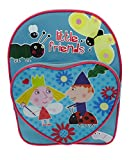 Ben & Holly - Mochila Infantil con Bolsillo de corazón, diseño de Dibujos y Texto en inglés Little Friends, Multicolor