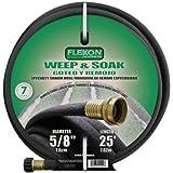 Flexon WS5825 Weep and Soak Soaker Hose, Black, 25-Feet