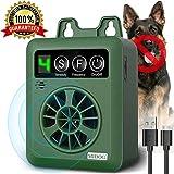 Dog Barking Control Devices, Anti Barking Device with 4 Adjustable Volume Level, Ultrasonic Dog Bark Deterrent, Sonic Bark Silencer Stop Barking for Small Medium Dog