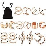 8 Paires Clips d'oreille en Acier Inoxydable, Vibury non Piercing Clip sur les...