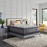 Sealy Posturepedic Plus, Euro Pillow Top 14 Medium Mattress with AllergenProtect and 9-Inch Foundation, King, Grey