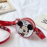 weichuang Mochila infantil para niños, bolso pequeño redondo de dibujos animados Mickey Mouse monedero niña bolso cruzado mochila para niños (color: 3)