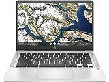 HP Chromebook 14a-na0004ns - Ordenador portátil HD de 14' (Intel Celeron N4020, 4GB RAM, 64GB eMMC, Gráficos Intel UHD 600, Sistema Operativo Chrome OS) – Plata mineral – Teclado QWERTY español