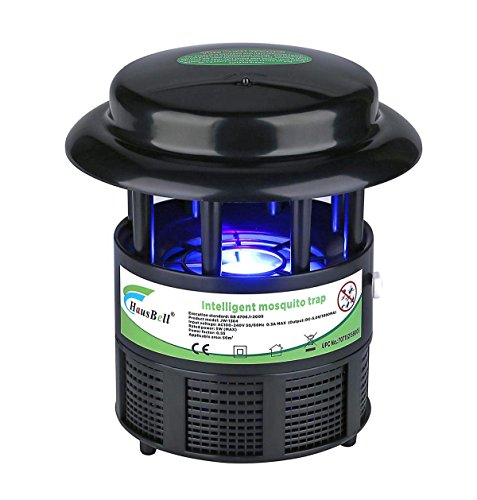 HAUSBELL Electric Insect Trap UV Light, Indoor Bug, Fruit Fly, Gnat and Mosquito Killer Trap -Nontoxic, Non-Chemical, Auto On and Off