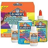 ELMER'S Kit per Slime Colorato, include Colla Vinilica Colorata Semitrasparente, Colori Assortiti, con Liquido Magico Attivatore di Slime, 4 Pezzi